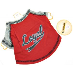 Fashion Pet Loyal Baseball Jersey - Red: X Small #437RXS - Active Dog Wear Best Price