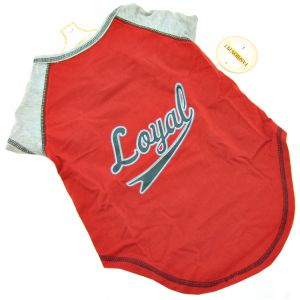 Fashion Pet Loyal Baseball Jersey - Red: Large #437RLG - Active Dog Wear Best Price