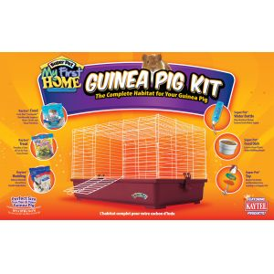 Super Pet My First Home Complete Guinea Pig Kit Burgundy - Small Pet Starter Kits Best Price