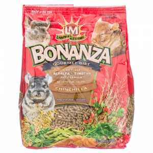 LM Animal Farms Bonanza Chinchilla Gourmet Diet: 2 lbs #2205312250 - Chinchilla Food Best Price