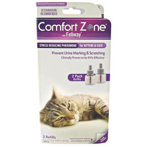 Comfort Zone with Feliway for Cats Double Refill: 2 Pack - (Contains 2 - 48 mL bottles) #100504225 - Anxiety Relief for Cats
