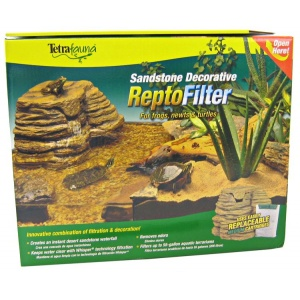 Tetrafauna Sandstone Decorative ReptoFilter: 90 GPH - Tanks up to 55 G