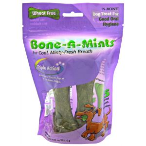 N-Bone Bone-A-Mints - Large: 4 Pack #621611 - Dental Dog Treats Best Price