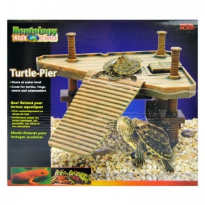 Reptology Floating Turtle Pier: Regular - 14 L x 9.5 W x 12 H #REP601 - Reptile Basking Platforms Best Price