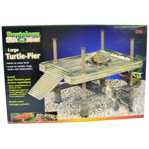 Reptology Floating Turtle Pier: Large - 16 L x 11 W x 16 H #REP603 - Reptile Basking Platforms Best Price