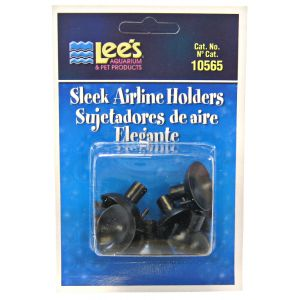 Lees Black Sleek Airline Holders - 6 Pack: 6 Pack #10565 - Aquarium Airline Holders