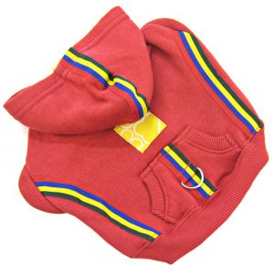 Fashion Pet Fleece Hoodie - Red: X Small