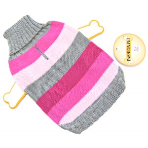 Fashion Pet Best In Stripe Sweater - Pink: X Small #510PXS - Dog Sweaters Best Price