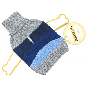 Fashion Pet Best In Stripe Sweater - Blue: XX Small #510BXXS - Dog Sweaters Best Price