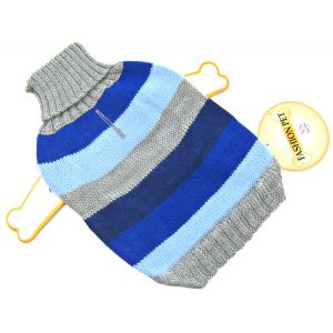 Fashion Pet Best In Stripe Sweater - Blue: X Small #510BXS - Dog Sweaters Best Price