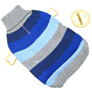 Fashion Pet Best In Stripe Sweater - Blue: Small #510BSM - Dog Sweaters