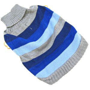 Fashion Pet Best In Stripe Sweater - Blue: Medium #510BMD - Dog Sweaters Best Price