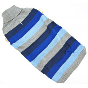 Fashion Pet Best In Stripe Sweater - Blue: Large #510BLG - Dog Sweaters Best Price
