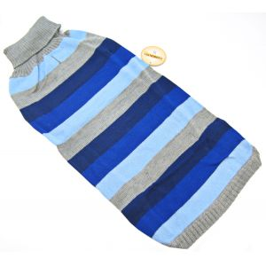 Fashion Pet Best In Stripe Sweater - Blue: X Large #510BXL - Dog Sweaters Best Price