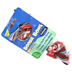 Booda 2 Knot Rope Bone - Multi-Colored: X-Small #50770 - Ropes and Tugs for Dogs Best Price