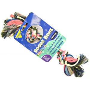 Booda Bone Multicolor 2 Knot Rope Toy: Small
