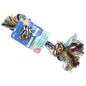 Booda Bone Multicolor 2 Knot Rope Toy: Medium