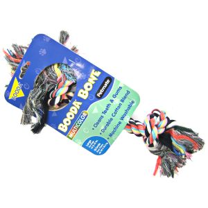 Booda 2 Knot Rope Bone - Multi-Colored: Large #50773 - Ropes and Tugs for Dogs Best Price