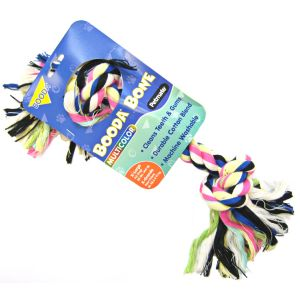 Booda 2 Knot Rope Bone - Multi-Colored: X-Large #50774 - Ropes and Tugs for Dogs Best Price