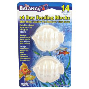 Penn Plax 14 Day Feeding Blocks: Fish Shaped - 2 Pack #PBV14 - Fish Vacation Feeder Blocks Best Price