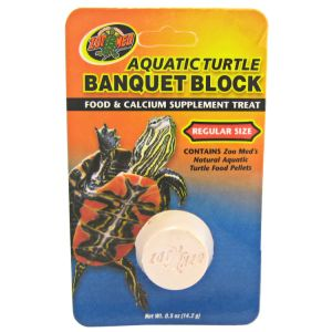 Zoo Med Aquatic Turtle Banquet Blocks: Regular - 1 Pack #BB-50 - Aquatic Turtle Food Best Price