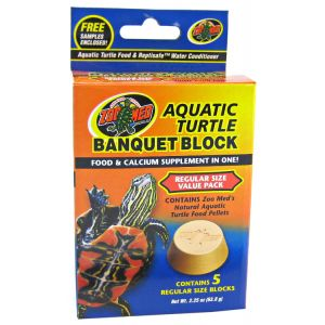 Zoo Med Aquatic Turtle Banquet Blocks: Regular - 5 Pack #BB-51 - Aquatic Turtle Food Best Price