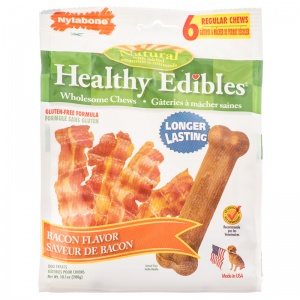 Healthy Edibles All Natural - Bacon Flavor: Regular - (6 Pack) #018214818250 - Natural Dog Treats Best Price