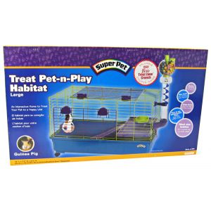 Super Pet Pet &#039;N Play Habitat: Large - (35 x 17 x 30) #100504151 - Small Pet Habitats Best Price