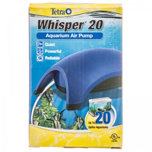 Tetra Whisper Air Pumps - UL Listed: Whisper 20 - 1 Outlet #77847 - Aquarium Air Pumps Best Price