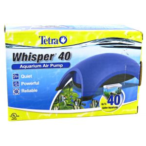 Tetra Whisper Air Pumps - UL Listed: Whisper 40 - 1 Outlet #77848 - Aquarium Air Pumps Best Price