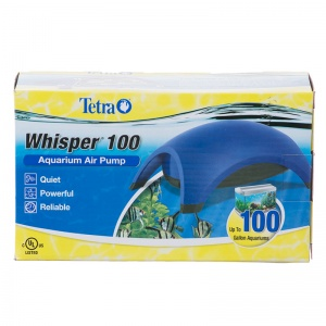 Tetra Whisper Air Pumps - UL Listed: Whisper 100 - 2 Outlets #77850 - Aquarium Air Pumps Best Price