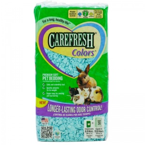 CareFresh Colors Color Pet Bedding - Blue: 10 Liters Blue #118220 - Paper Pet Bedding