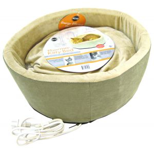 KandH Pet Beds Thermo-Kitty Bed - 16 Diameter: Sage #3193 - Heated Cat Beds Best Price