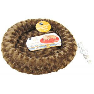 KandH Pet Beds Thermo-Kitty Fashion Splash - 18 Diameter: Mocha #3601 - Heated Cat Beds Best Price