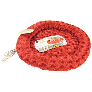 KandH Pet Beds Thermo-Kitty Fashion Splash - 18 Diameter: Red #3605 - Heated Cat Beds Best Price