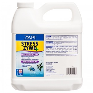 Aquarium Pharmaceuticals Stress Zyme: 64 oz #56J - Aquarium Bio Additives Best Price