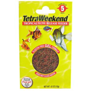 Tetra 5 Day Weekend Feeder - .43 oz: 1 Pack - up to 12 Gallons #77020 - Fish Vacation Feeder Blocks Best Price