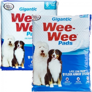 Four Paws Wee Wee Pads - Gigantic - (27.5 x 44) - Dog Housetraining Aids Best Price