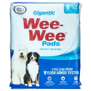 Four Paws Wee Wee Pads - Gigantic - (27.5 x 44): 8 Pack #1662 - Dog Housetraining Aids