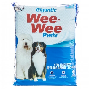 Four Paws Wee Wee Pads - Gigantic - (27.5 x 44): 18 Pack #1663 - Dog Housetraining Aids Best Price