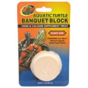 Zoo Med Aquatic Turtle Banquet Blocks: Giant - 1 Pack #BB-52 - Aquatic Turtle Food Best Price