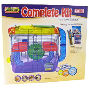 Super Pet Crittertrail Two Level Habitat Complete Kit - Small Pet Starter Kits Best Price