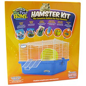 Super Pet My First Home Complete Hamster Kit: Hamster Kit - (16.5H x 15.62W x 5.75D) #60141 - Small Pet Starter Kits Best Price
