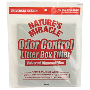 Natures Miracle Odor Control Litter Box Universal Charcoal Filter: 2 Pack #P-5917 - Cat Pan Liners and Filters Best Price
