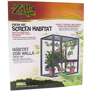 Zilla Fresh Air Screen Habitats: Small - (18 x 12 x 20) #100011868 - Reptile Cages and Terrariums