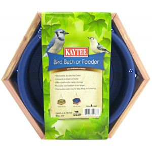 Kaytee Bird Bath or Feeder: Cedar Feeder or Bird Bath - (11.25H x 13W x 2.5D) #100506081 - Wild Bird Seed Feeders Best Price