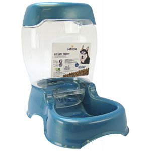 Petmate Café Pet Feeder - Pearl Waterfall: Large Feeder - (12 lbs - 10.4L x 16W x 15.25H) #24607 - Gravity Dog Feeders Best Price