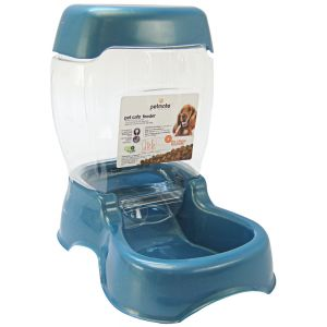 Petmate Café Pet Feeder - Pearl Waterfall: Medium Feeder - (6 lbs - 8.25L x 12.5W x 12H) #24617 - Gravity Dog Feeders Best Price