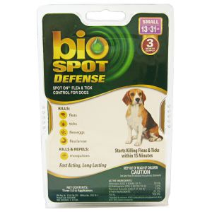 Bio Spot Defense Spot On Flea and Tick Control for Dogs: 3 Month Supply Small Dogs 13-31 lbs #100504290 - Flea and Tick Drops for Dogs Best Price