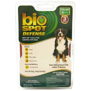 Bio Spot Defense Spot On Flea and Tick Control for Dogs: 3 Month Supply X Large Dogs Over 81 lbs #100504294 - Flea and Tick Drops for Dogs Best Price